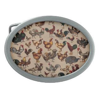 Huhn-Geflügel der Welt Ovale Gürtelschnalle