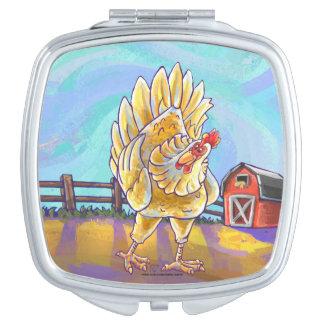 Huhn-Geschenke u. Zusätze Schminkspiegel