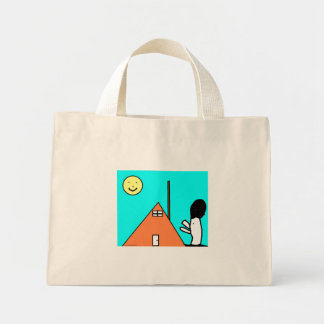 Huhn-Haus-Tasche Mini Stoffbeutel