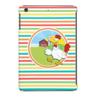 Huhn; Helle Regenbogen-Streifen iPad Mini Hülle