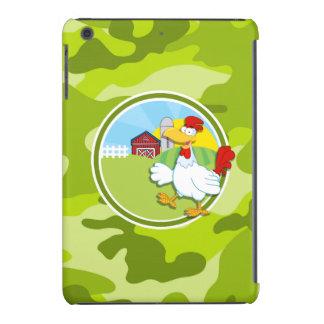 Huhn; hellgrüne Camouflage, Tarnung iPad Mini Cover