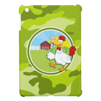 Huhn; hellgrüne Camouflage, Tarnung Hüllen Für iPad Mini
