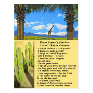 Huhn-Kasserollen-Rezept-Postkarte