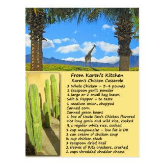 Huhn-Kasserollen-Rezept-Postkarte Postkarte