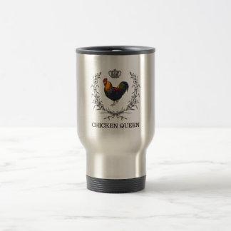 Huhn-Königin-Reise-Tasse durch flaumige Schichten Reisebecher