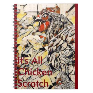 Huhn-Kratzer (Notizbuch) Spiral Notizblock