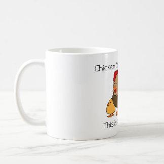Huhn-Mathe erklärt Kaffeetasse