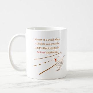 Huhn-Motive in Frage gestellt Kaffeetasse