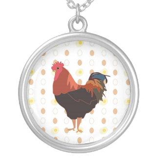 Huhn oder Ei Versilberte Kette