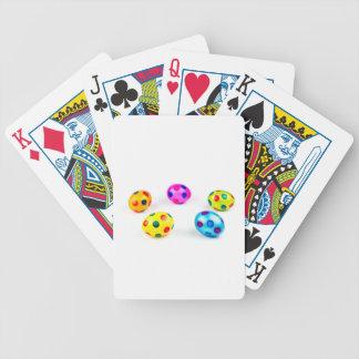 Huhn-Ostereier der Gruppe bunte gemalte Bicycle Spielkarten