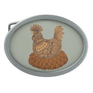 Huhn Ovale Gürtelschnalle