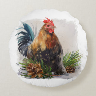Huhn Rundes Kissen