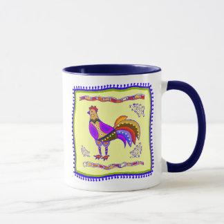 Huhn-Steppdecke Tasse