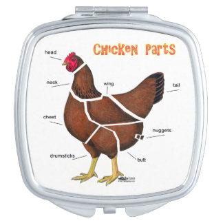 Huhn-Teile Taschenspiegel