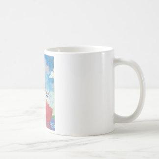 Huhn-und Kricket-Collage Kaffeetasse