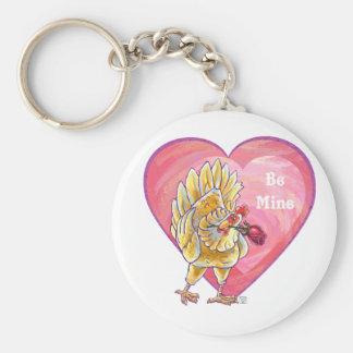 Huhn-Valentinstag Schlüsselanhänger