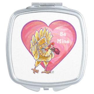 Huhn-Valentinstag Schminkspiegel
