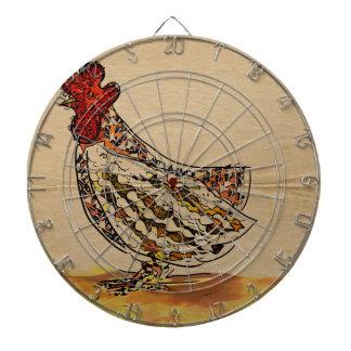Huhn Vintag Dartscheibe