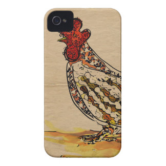 Huhn Vintag iPhone 4 Cover