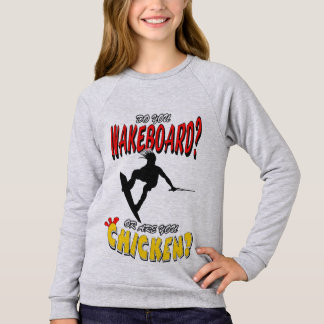 Huhn WAKEBOARD 1 (Schwarzes) Sweatshirt