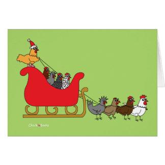 Huhn-Weihnachten Karte