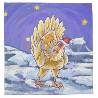 Huhn-Weihnachten Serviette