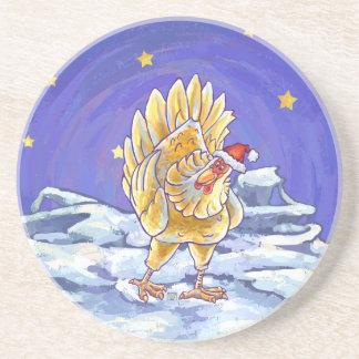 Huhn-Weihnachten Untersetzer