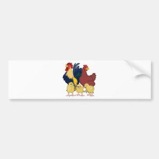 Hühner Autoaufkleber