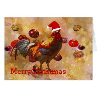 Hühner für Weihnachten Karte