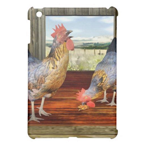 Hühner in der Scheune iPad Mini Schale