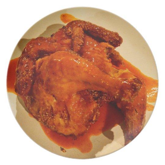 Huhnservierplatte Melaminteller