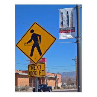 Hula Band-Fußgängerzeichen, Albuquerque-New Mexiko Postkarte