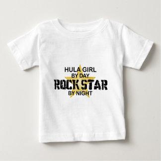 Hula Mädchen bis zum Tag, Rockstar bis zum Nacht Baby T-shirt