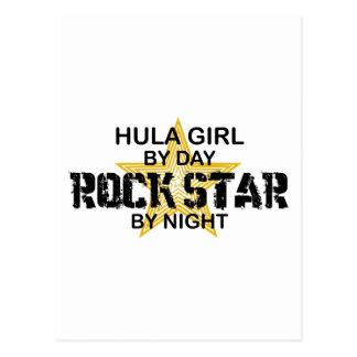 Hula Mädchen bis zum Tag, Rockstar bis zum Nacht Postkarte