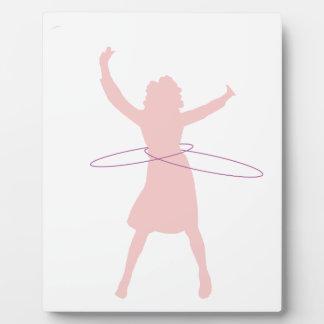 hula Mädchen Fotoplatte