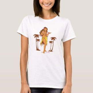 Hula Mädchen-T - Shirt