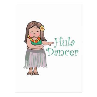 Hula Tänzer Postkarte