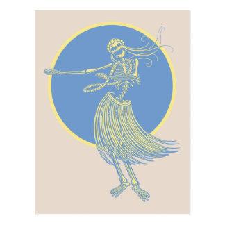 Hula Tod Luau Postkarte