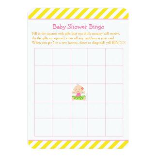 Hula tropisches Mädchen-Babyparty-Bingo Karte