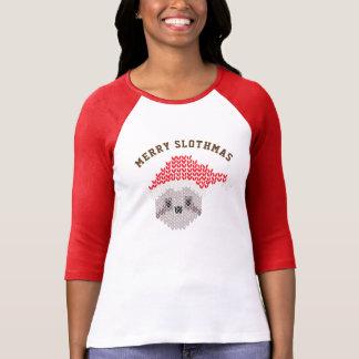 Hülse hässliche Sankt-Trägheit fröhliche Slothmas T-Shirt