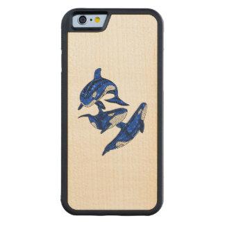 Hülse von 3 Stammes- Schwertwalen Bumper iPhone 6 Hülle Ahorn