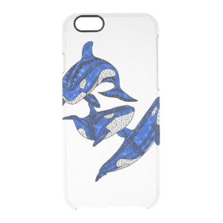 Hülse von 3 Stammes- Schwertwalen Durchsichtige iPhone 6/6S Hülle