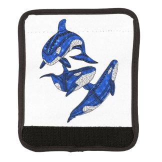 Hülse von 3 Stammes- Schwertwalen Gepäck Markierung