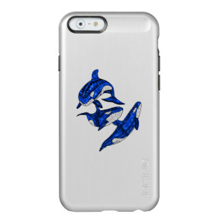 Hülse von 3 Stammes- Schwertwalen Incipio Feather® Shine iPhone 6 Hülle