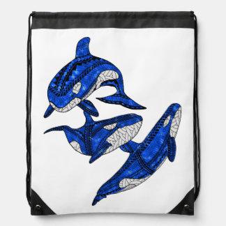 Hülse von 3 Stammes- Schwertwalen Sportbeutel