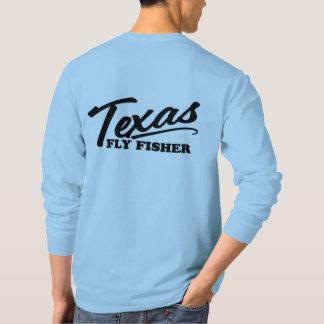 Hülsen-Casting-T-Stück Texas-FliegeFisher lässiges T-Shirt