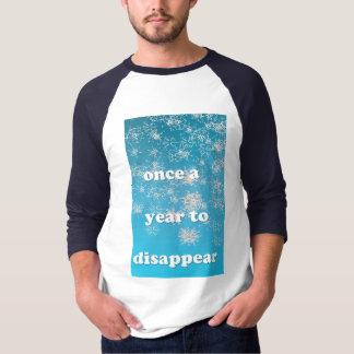Hülsen des Schneeflocke-T - Shirt 3/4 männlich