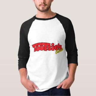 Hülsen-Jersey-T-Stück des Tootsies-Kabarett-3/4 T-Shirt