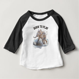 Hülsen-Playful Elefantraglan-Shirt des Baby-3/4 Baby T-shirt