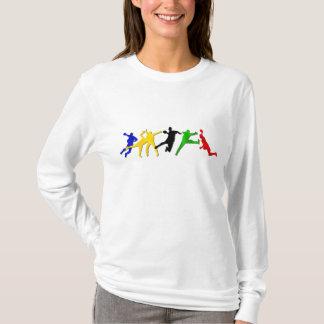 Hülsenhandball-Spieler-T - Shirt der Damen langer